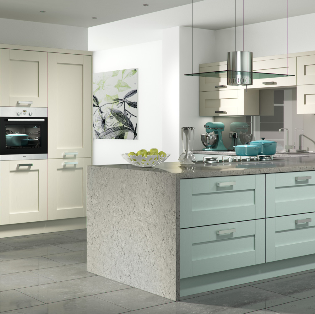 Ivory Shaker Kitchen Pictures: Windsor Shaker Ivory And Powder Blue