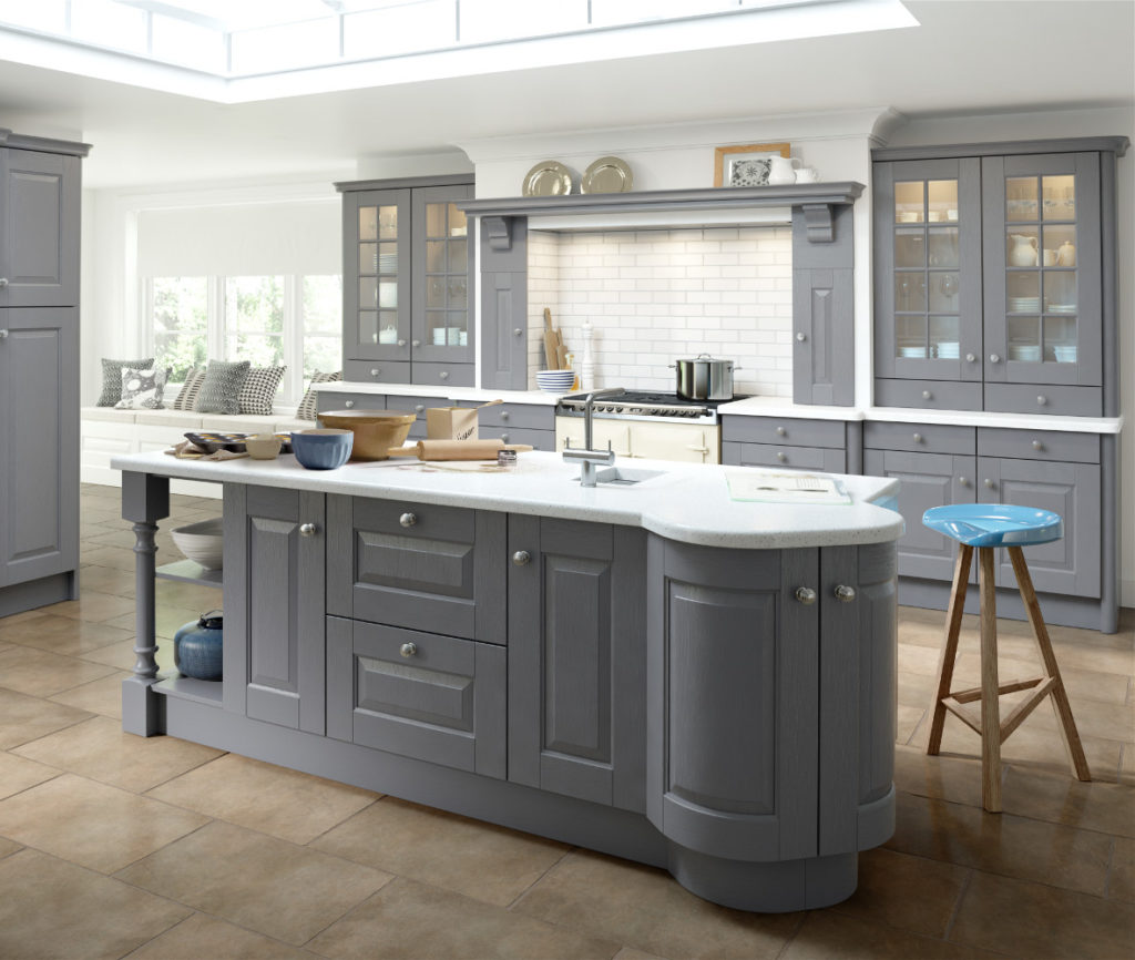 Ash Grey Cabinets Kitchen: Hampton Dust Grey Painted
