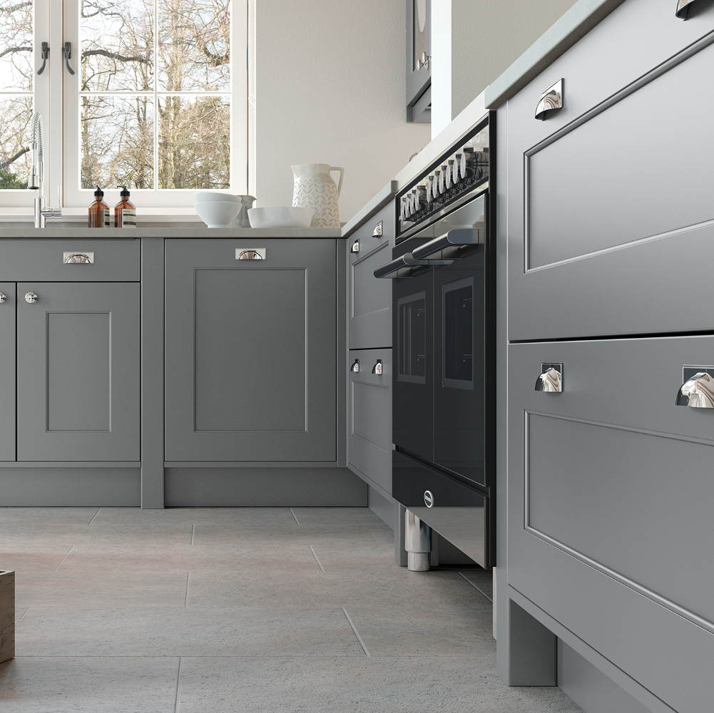 Florence In Dust Grey And Porcelain Kitchens Direct Ni