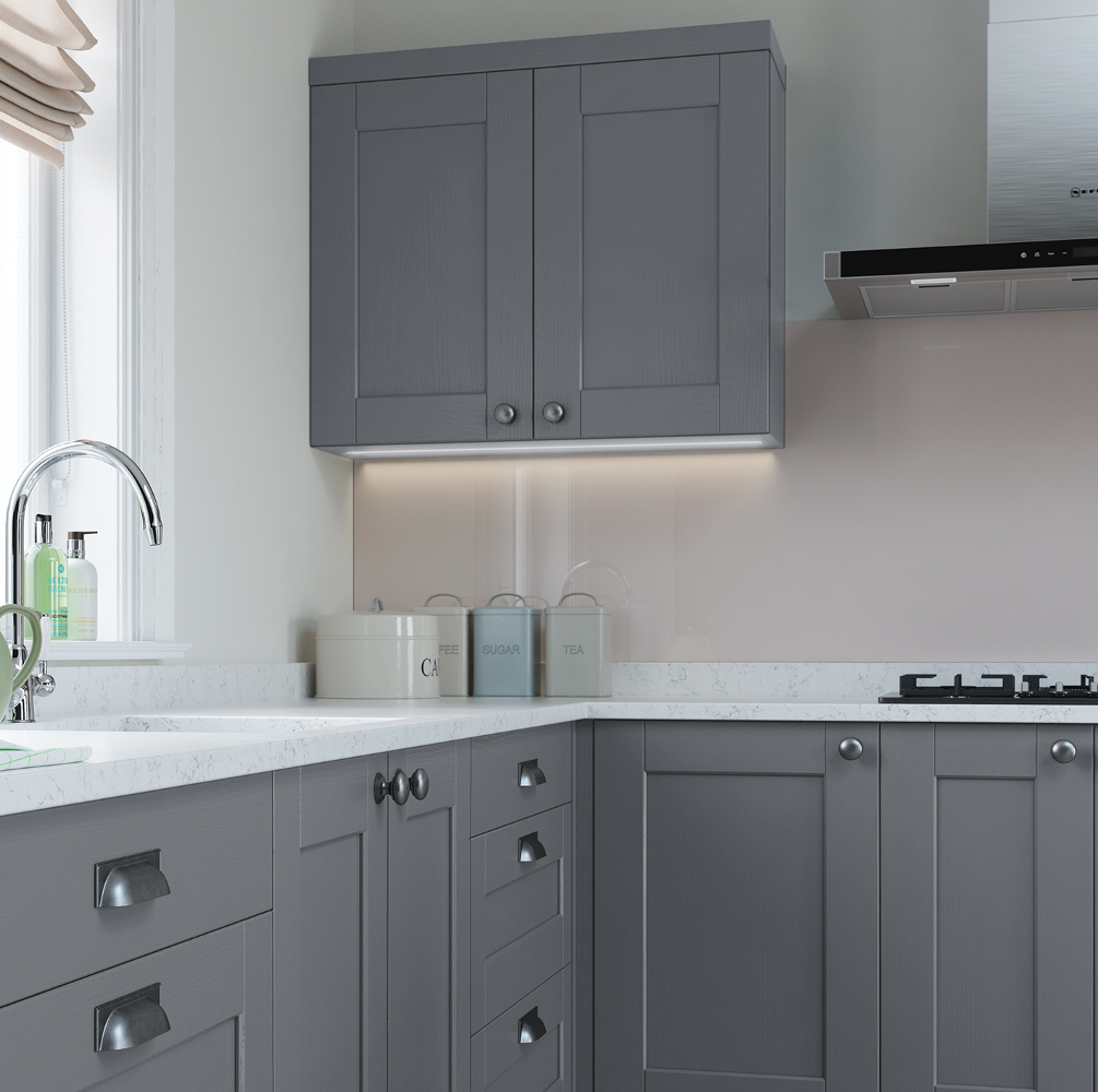 Shaker Dusk: Kensington Kitchen In Light Grey And Dust Grey