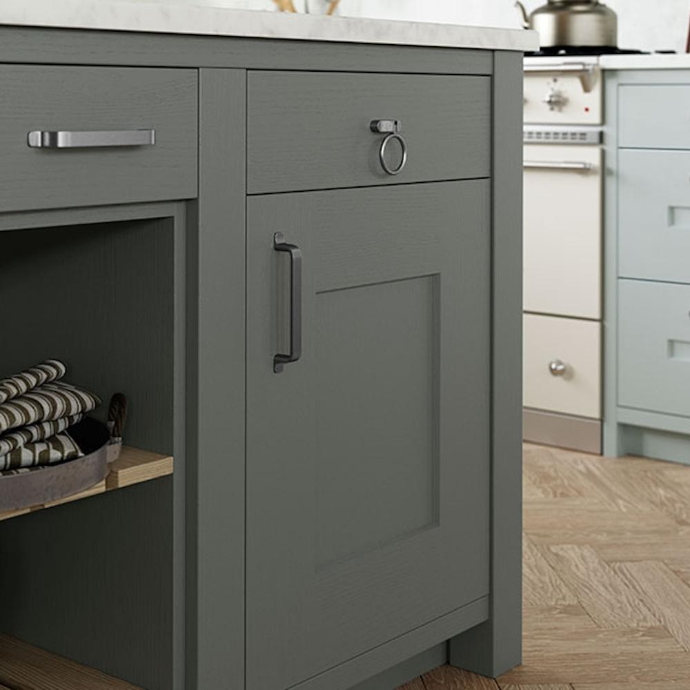 Clonmel Light Blue And Gun Metal Grey Kitchens Direct Ni